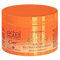 Маска Восстановление и защита с UV-фильтром для всех типов волос CUREX SUNFLOWER 500 мл